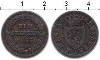 Изображение Монеты Германия Нассау 1 крейцер 1855 Медь VF