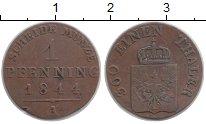 Изображение Монеты Германия Пруссия 1 пфенниг 1844 Медь VF