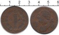 Изображение Монеты Франция 12 динерс 1792 Медь VF Людовик XVI