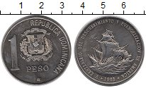 Изображение Монеты Доминиканская республика 1 песо 1988 Медно-никель UNC