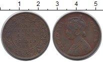 Изображение Монеты Британская Индия 1/4 анны 1862 Медь XF
