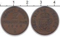 Изображение Монеты Пруссия 2 пфеннига 1846 Медь XF-
