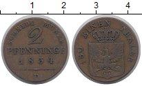 Изображение Монеты Пруссия 2 пфеннига 1834 Медь XF-