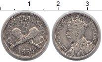 Изображение Монеты Новая Зеландия 3 пенса 1936 Серебро XF