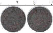 Изображение Монеты Нассау 1 крейцер 1861 Медь VF