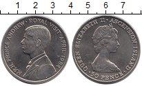 Изображение Монеты Остров Вознесения 50 пенсов 1984 Медно-никель UNC