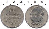 Изображение Монеты ГДР 20 марок 1983 Медно-никель UNC Карл  Маркс