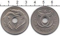 Изображение Монеты Папуа-Новая Гвинея 1 кина 1975 Медно-никель UNC Крокодилы
