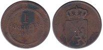 Изображение Монеты Германия Баден 1 крейцер 1807 Медь XF-
