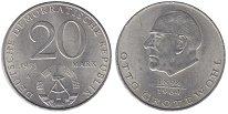 Изображение Монеты ГДР 20 марок 1973 Медно-никель UNC Отто  Гротеволь