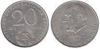 Изображение Монеты ГДР 20 марок 1973 Медно-никель UNC