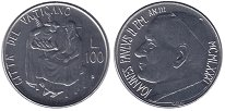 Изображение Монеты Ватикан 100 лир 1981 Сталь UNC