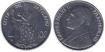 Изображение Монеты Ватикан 100 лир 1979 Сталь UNC