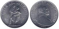 Изображение Монеты Ватикан 100 лир 1982 Сталь UNC