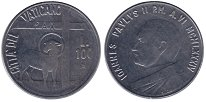 Изображение Монеты Ватикан 100 лир 1984 Сталь UNC