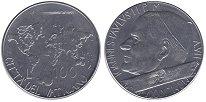Изображение Монеты Ватикан 100 лир 1985 Сталь UNC