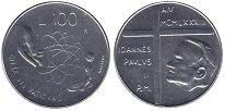 Изображение Монеты Ватикан 100 лир 1983 Сталь UNC
