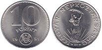 Изображение Монеты Венгрия 10 форинтов 1981 Медно-никель UNC