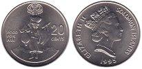 Изображение Монеты Соломоновы острова 20 центов 1995 Медно-никель UNC