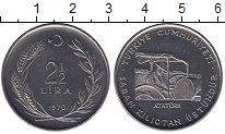 Изображение Монеты Турция 2 1/2 лира 1970 Сталь UNC-