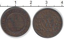 Изображение Монеты Сардиния 1 сентесимо 1826 Медь XF-
