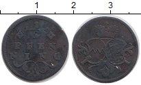 Изображение Монеты Германия Вюрцбург 1/2 пфеннига 0 Медь VF
