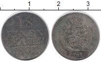 Изображение Монеты Германия Саксония 1/48 талера 1807 Серебро XF-