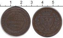Изображение Монеты Сардиния 5 сентесимо 1826 Медь VF
