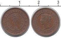 Изображение Монеты Цейлон 1/4 цента 1890 Бронза XF+ Виктория