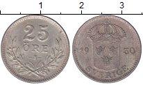 Изображение Монеты Швеция 25 эре 1930 Серебро XF