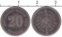 Изображение Монеты Германия 20 пфеннигов 1875 Серебро VF D