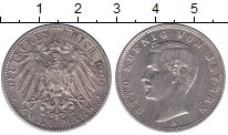 Изображение Монеты Германия Бавария 2 марки 1908 Серебро XF