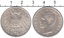 Изображение Монеты Бавария 2 марки 1905 Серебро UNC-