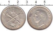 Изображение Монеты Австралия 1 флорин 1951 Серебро UNC-