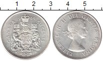 Изображение Монеты Канада 50 центов 1964 Серебро UNC-