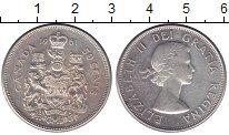 Изображение Монеты Канада 50 центов 1961 Серебро UNC- Елизавета II