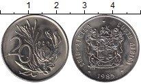 Изображение Монеты ЮАР 20 центов 1985 Медно-никель UNC-