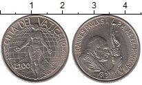 Изображение Монеты Ватикан 100 лир 1998 Медно-никель UNC