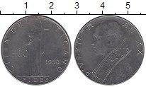 Изображение Монеты Ватикан 100 лир 1958 Сталь UNC