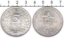Изображение Монеты Веймарская республика 5 марок 1925 Серебро UNC- 1000 - летие  Рейнла