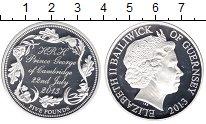 Изображение Монеты Гернси 5 фунтов 2013 Серебро Proof