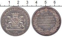 Монета Бремен 1 талер Серебро 1863 XF+