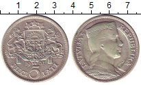 Изображение Монеты Латвия 5 лат 1931 Серебро XF Герб