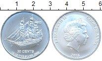 Изображение Мелочь Острова Кука 50 центов 2015 Серебро UNC Парусник