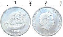 Изображение Мелочь Острова Кука 10 центов 2015 Серебро UNC Парусник