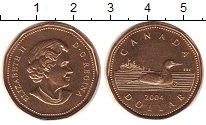 Изображение Мелочь Канада 1 доллар 2004 Латунь UNC Елизавета II