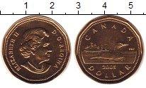 Изображение Монеты Канада 1 доллар 2005 Латунь UNC
