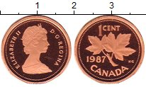 Изображение Монеты Канада 1 цент 1987 Бронза Proof