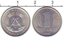 Изображение Монеты ГДР 1 пфенниг 1980 Алюминий XF+