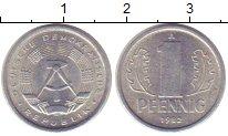 Изображение Монеты ГДР 1 пфенниг 1982 Алюминий XF+